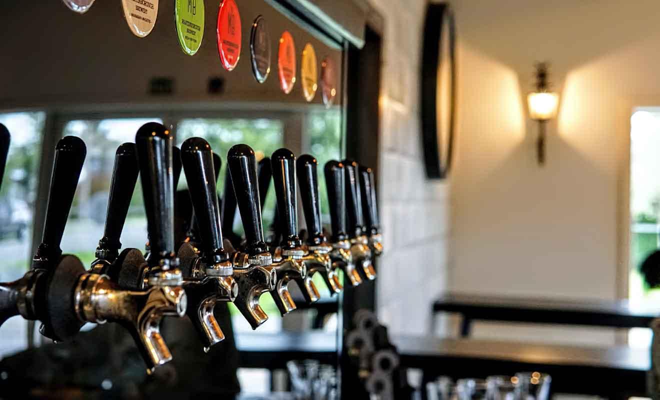 Vous avez le choix entre sept bières différentes.
