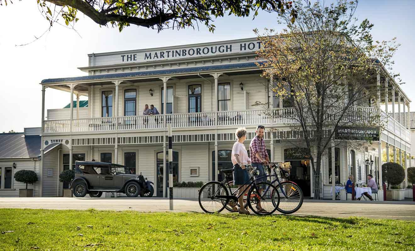 Le Martinborough Hotel est l'un des plus anciens bâtiment du village.