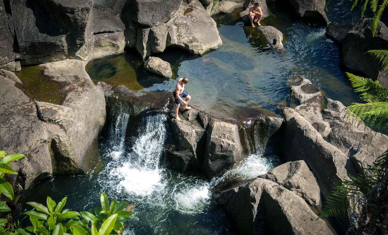 Le McLaren Falls Park ne se résume pas à ses cascades et l'on y vient en famille pour pratiquer de nombreuses activités sportives ou récréatives.