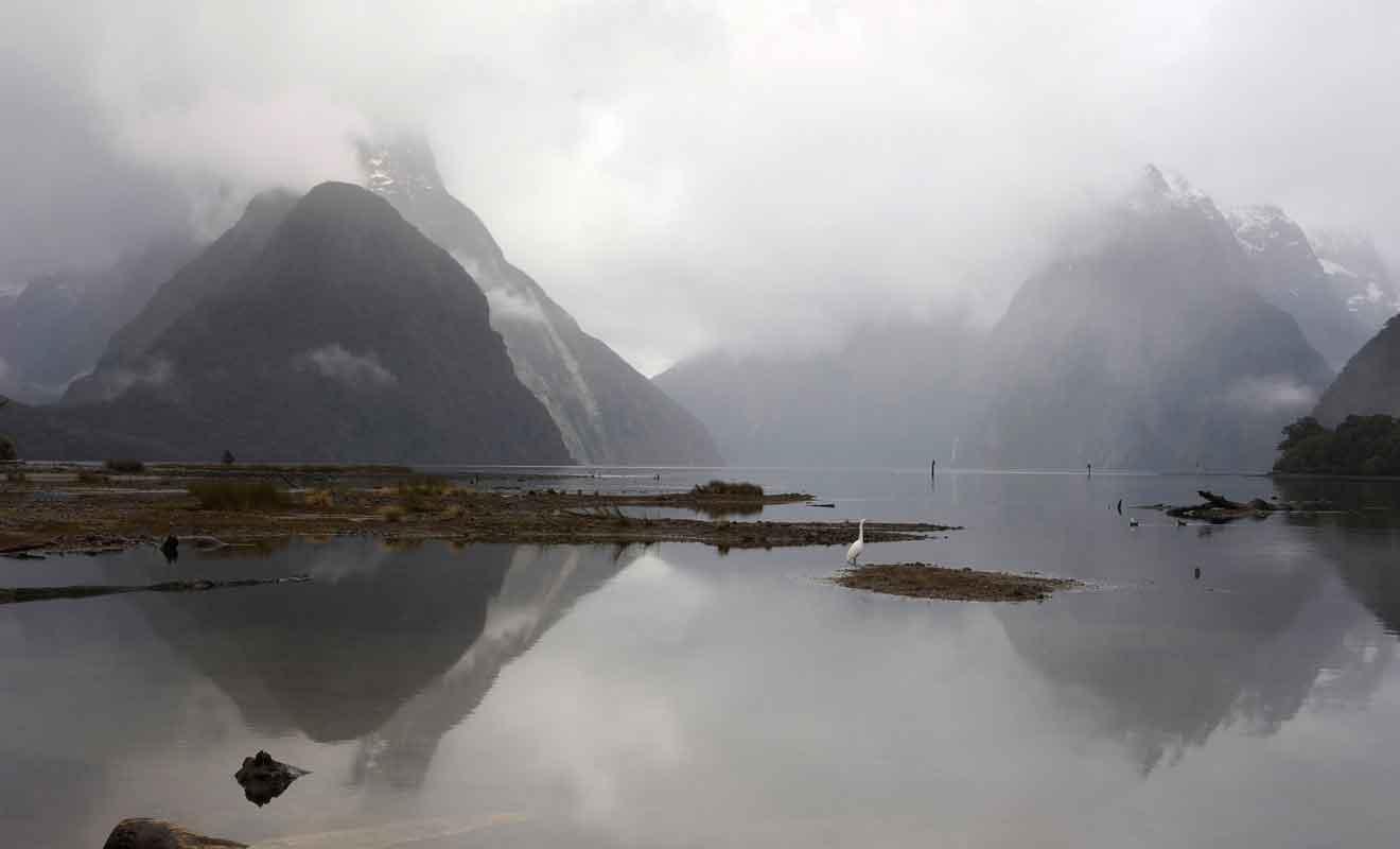 La pluie n'empêche pas d'apprécier la beauté du fjord, mais le brouillard en revanche peut masquer tout le paysage.
