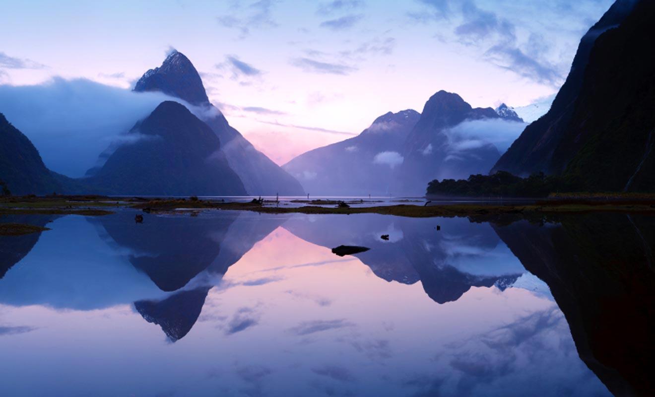 Pour de nombreux voyageurs, le Milford Sound offre le plus remarquable panorama du pays.
