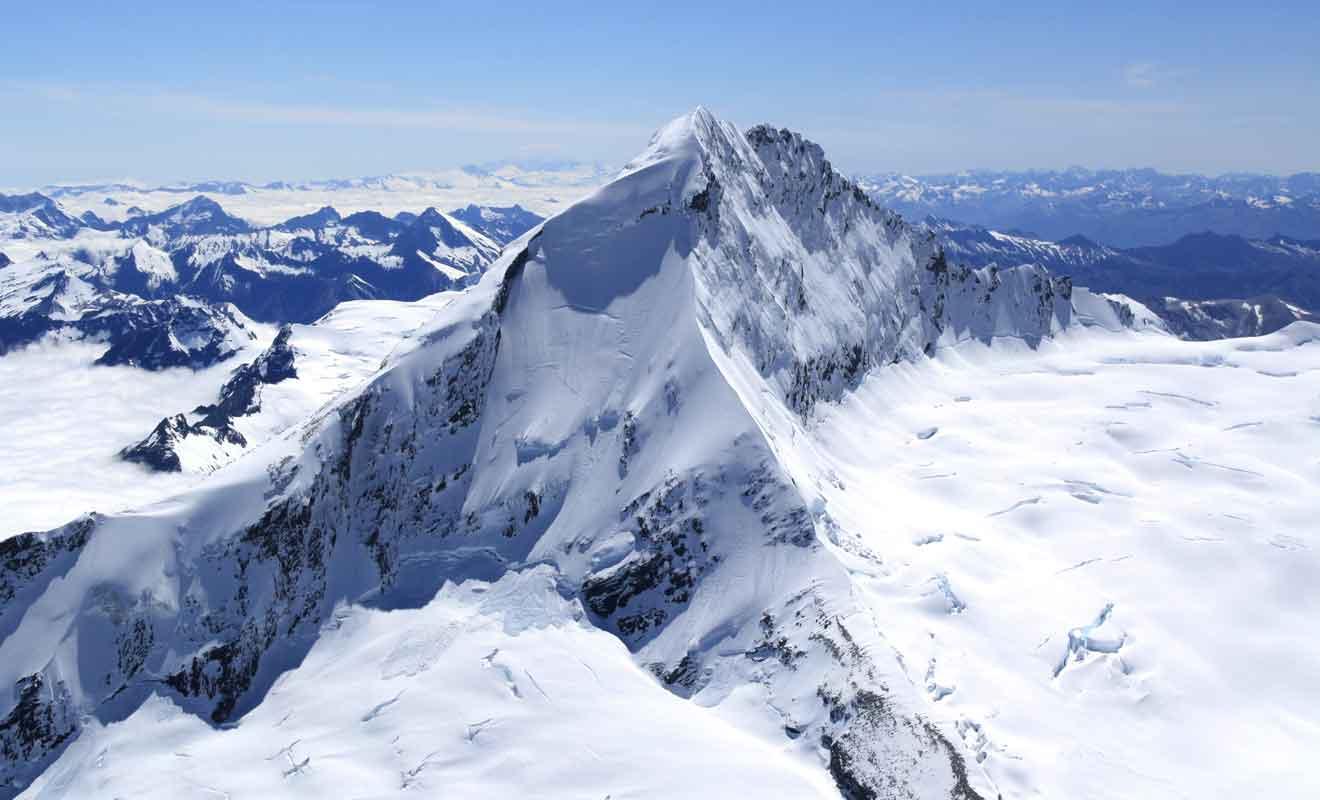 Toute la région est connue pour ses innombrables glaciers millénaires.