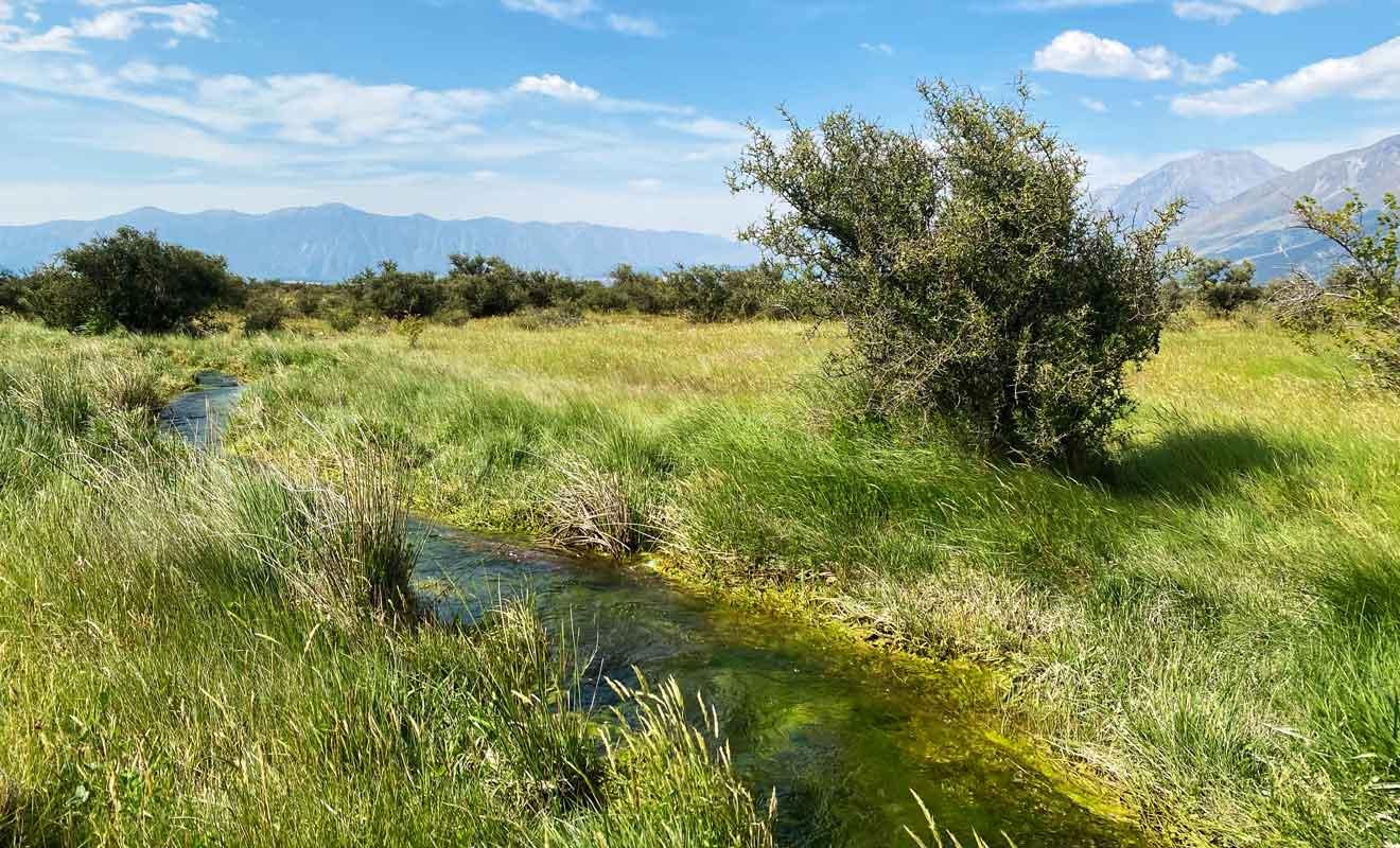 L'eau des rivières qui provient des glaciers est particulièrement fraîche.
