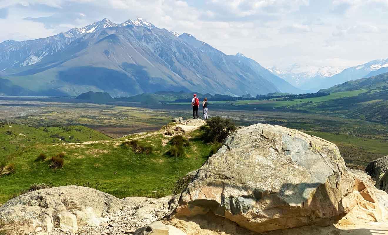 Du haut de Mt Sunday, vous pouvez observer le paysage sur 360°.