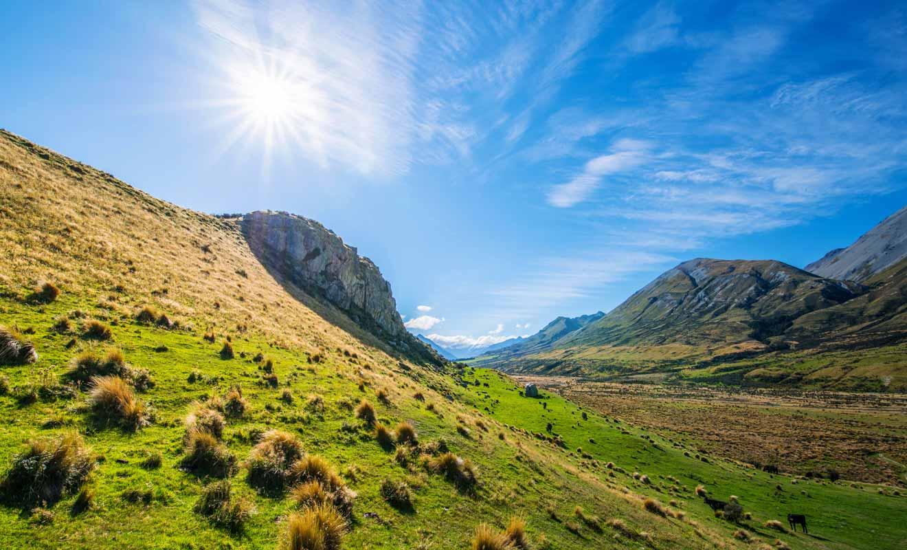 Mount Sunday est un paysage emblématique de l'île du Sud.