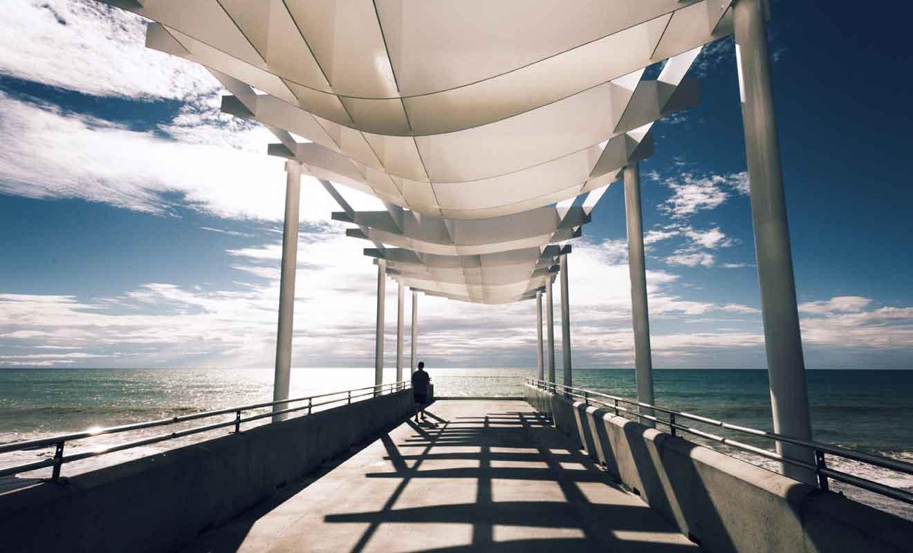 Par beau temps, venez admirer la teinte turquoise de l'océan à New Jetty.