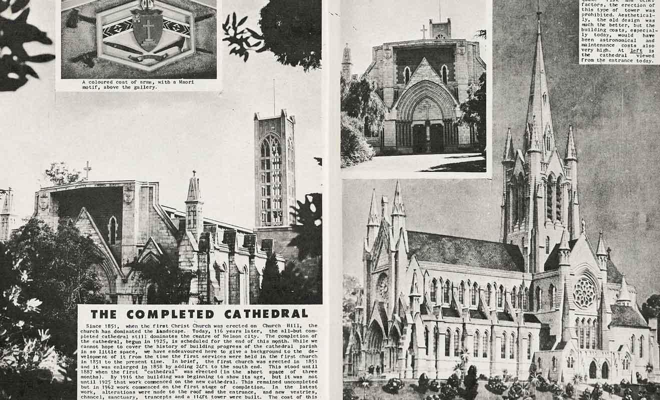 La cathédrale de Nelson aurait dû être la plus belle de Nouvelle-Zélande.