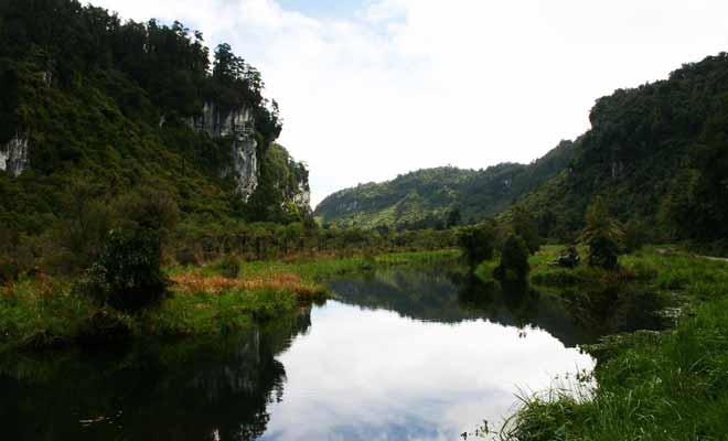 Avec 380 km2 de forêt vierge, le parc national de Paparoa est encore méconnu du grand public. Pourtant, les excursions en canoë ou à cheval permettent de découvrir une nature sauvage.