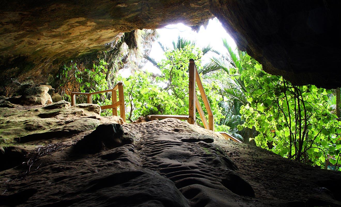 Pour visiter la caverne de Punakaiki, il faut se munir d'une lampe torche y compris en journée.