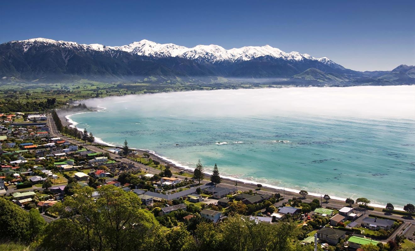 La légende maorie raconte que le Dieu Maui a pêché l'île du Nord en prenant appui sur la péninsule de Kaikoura. L'hameçon employé était la constellation du scorpion.