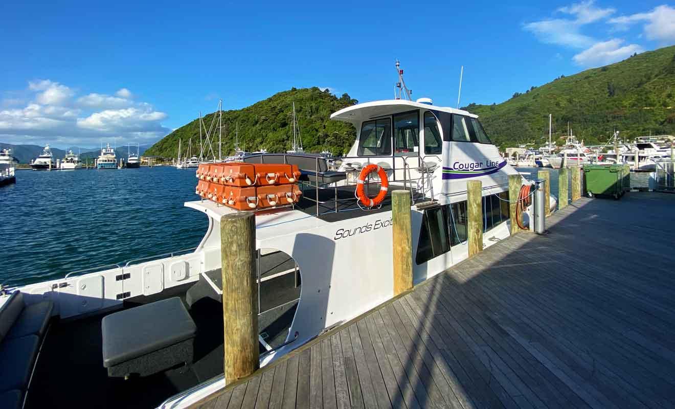 La traversée avec le retour pour Picton coûte 95 dollars par adulte.