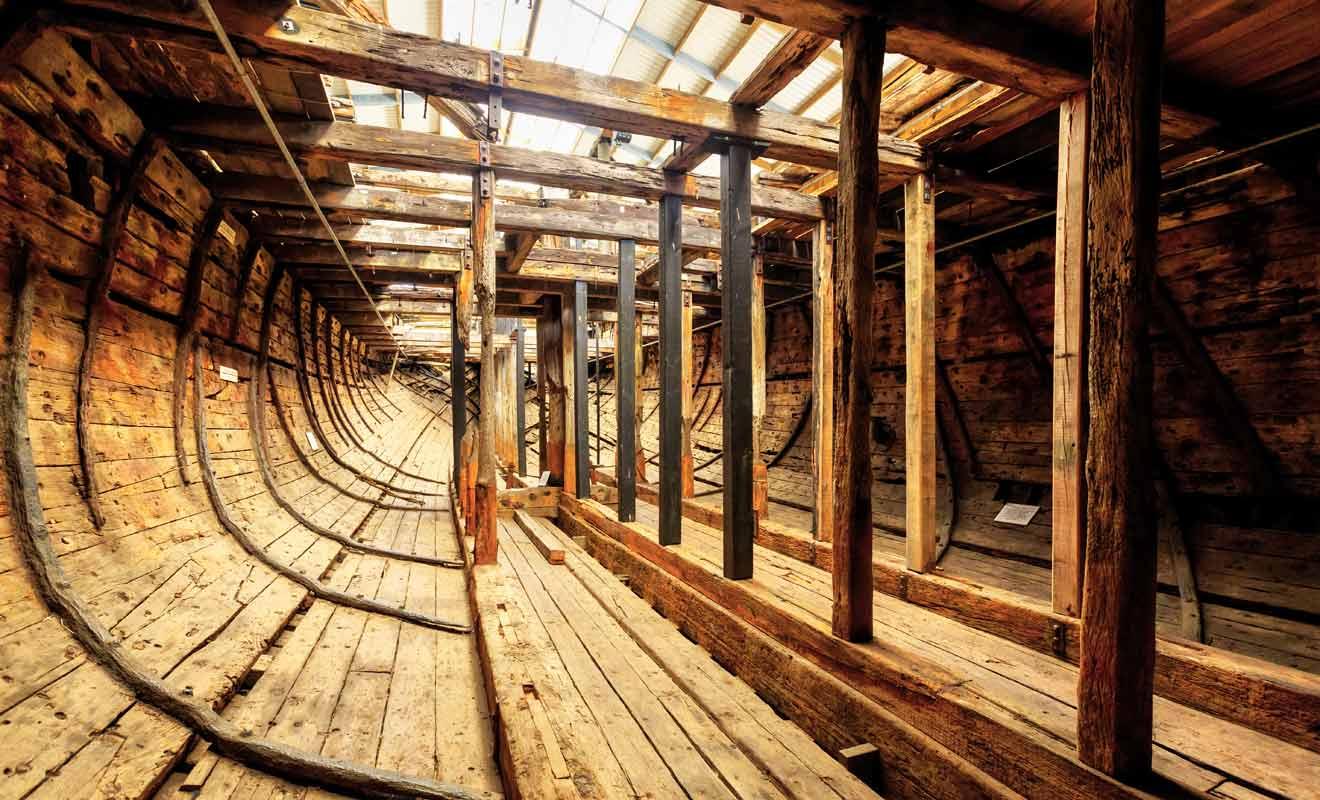 Fabriqué en 1853 en Inde, L'Edwin Fox est un navire de 836 tonnes.