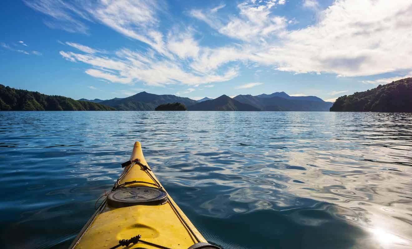 Le point de vue est totalement différent selon que vous observez le paysage du pont d'un ferry ou sur un kayak au fil de l'eau.