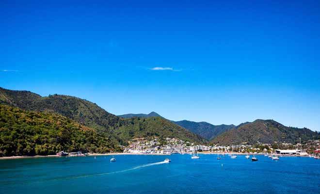 Si Wellington est la capitale du pays, Picton en revanche n'est qu'une petite ville. Néanmoins, le cadre est tout simplement paradisiaque.