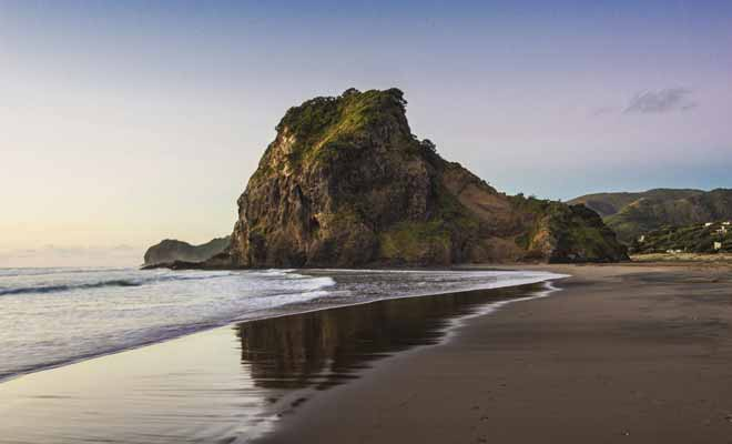 The Piano Lesson that won the Cannes Film Festival's Golden Palm was shot on several beaches in New Zealand. Piha, the best known of them, is easily recognizable in the film.