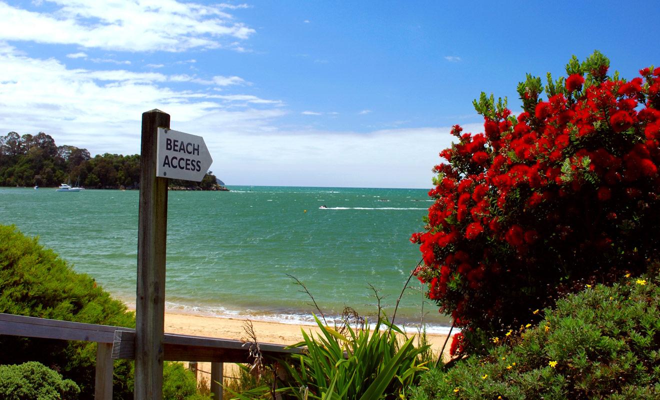Les plages de Nouvelle-Zélande sont diverses et variées et l'on notera la présence de sable blanc sur la côte ouest, et de sable noir d'origine volcanique sur la côte Est. Lorsque la mer prend des reflets turquoise, les panoramas sont à couper le souffle.
