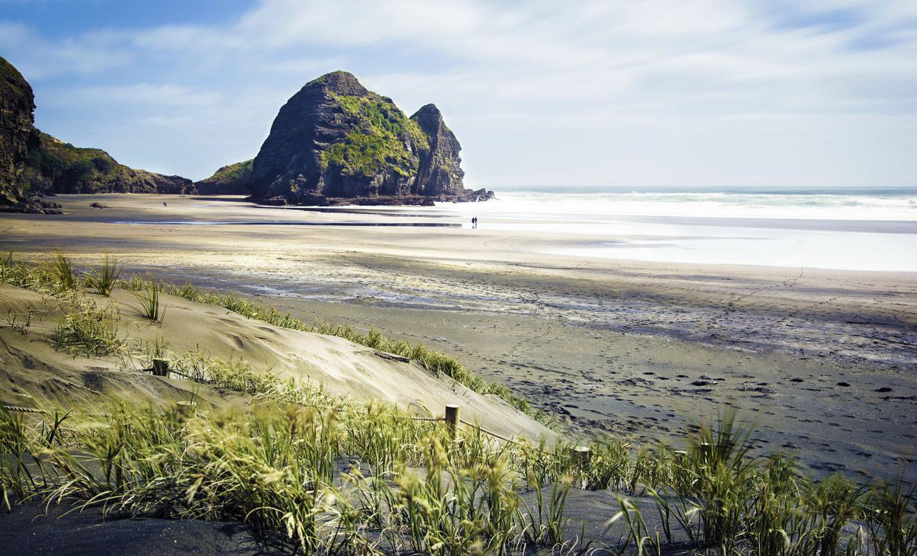 La plupart des plages de Nouvelle-Zélande sont totalement sauvages et désertes sur des dizaines de kilomètres.