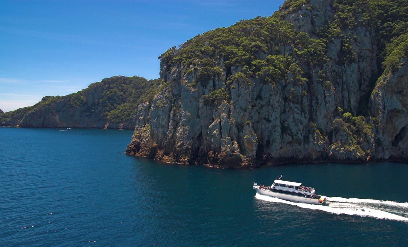 Les Poor Knight Islands se trouvent au large de la Bay of Plenty au Nord de la Nouvelle-Zelande. Il faut environ une heure de bateau pour rejoindre l'archipel.