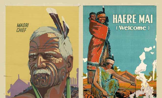 On a longtemps caricaturé les Maoris et l'imagerie populaire voyait en eux des Indiens aux coutumes étranges.