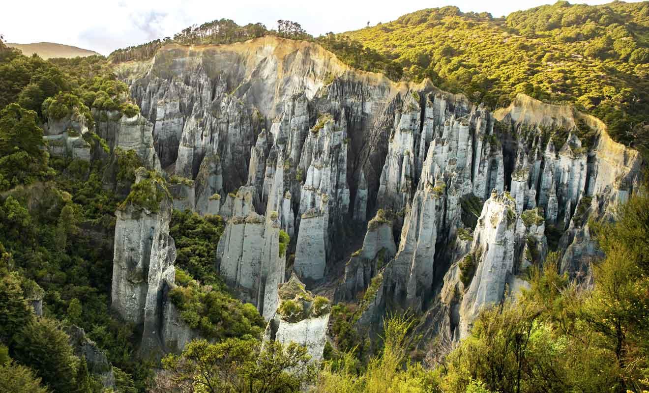 Les cheminées sont sculptées par l'érosion depuis 100.000 ans.
