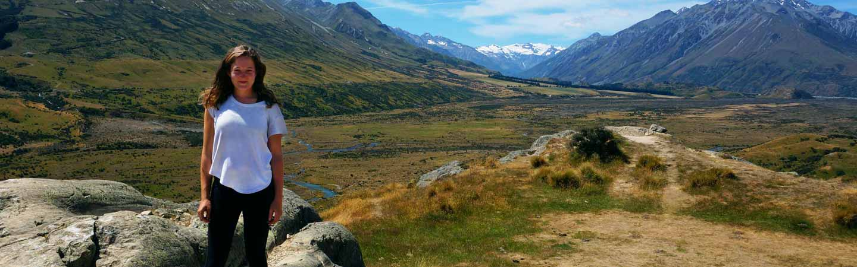 Aurore dans le parc national d'Arthur's Pass.