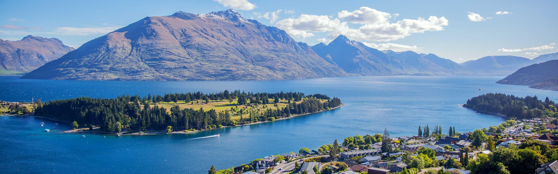 Queenstown se trouve dans la région de l'Otago Central sur l'ïle du Sud.