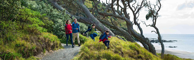 Randonnée entre amis en Nouvelle-Zélande