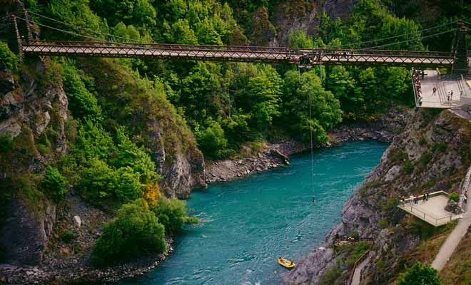 Le pont de la rivière Kawarau qui date de la ruée vers l'or était une véritable performance à l'époque.