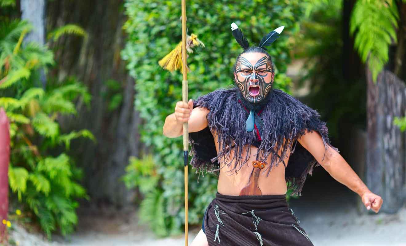 Spectacle culturel à Rotorua.