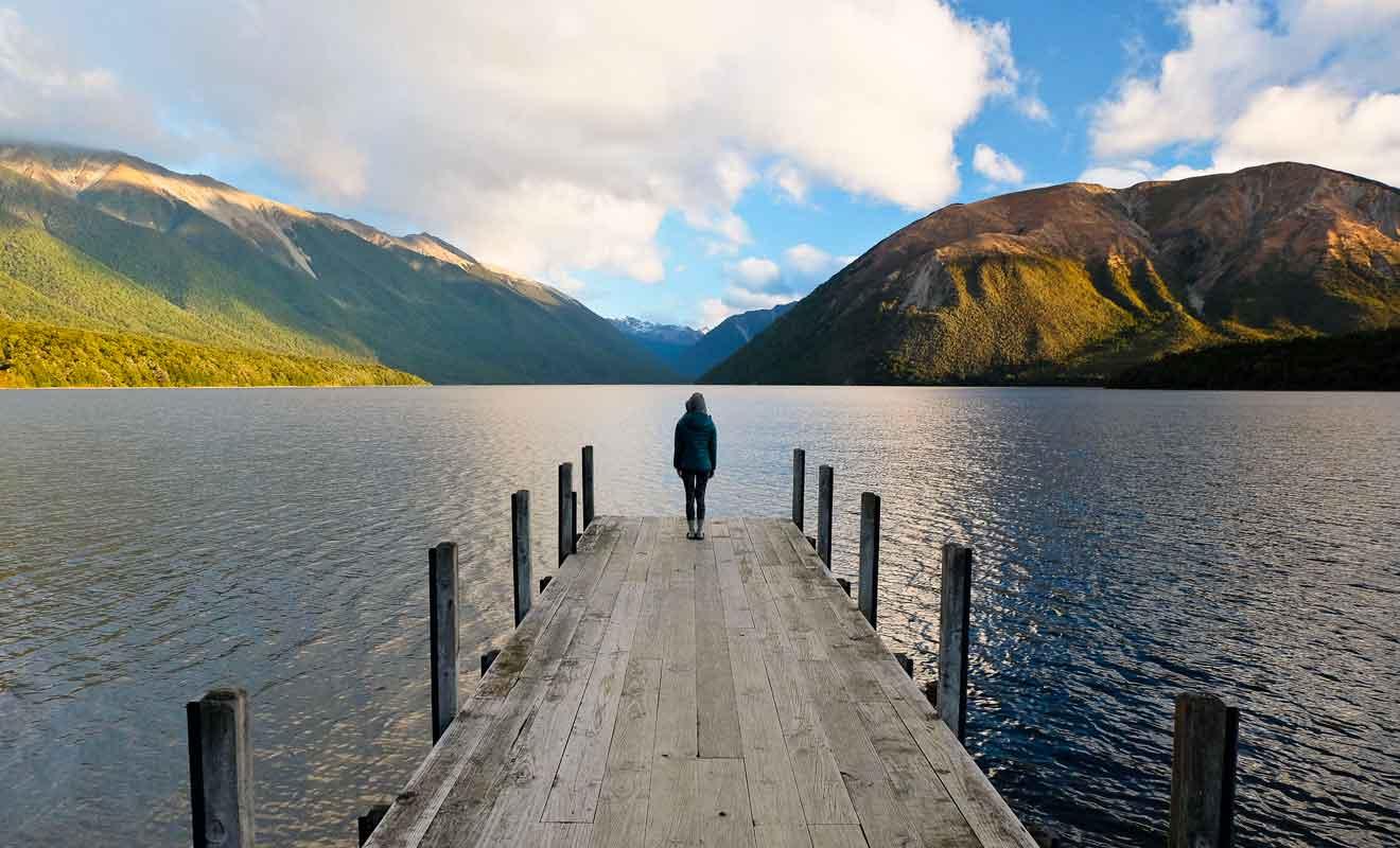 Le lac Rotoiti possède deux pontons pris d'assauts par les visiteurs.