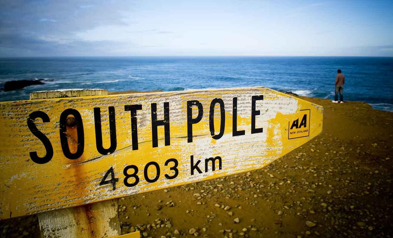 Le vent fort qui balaye les Catlins provient de l'Antarctique.