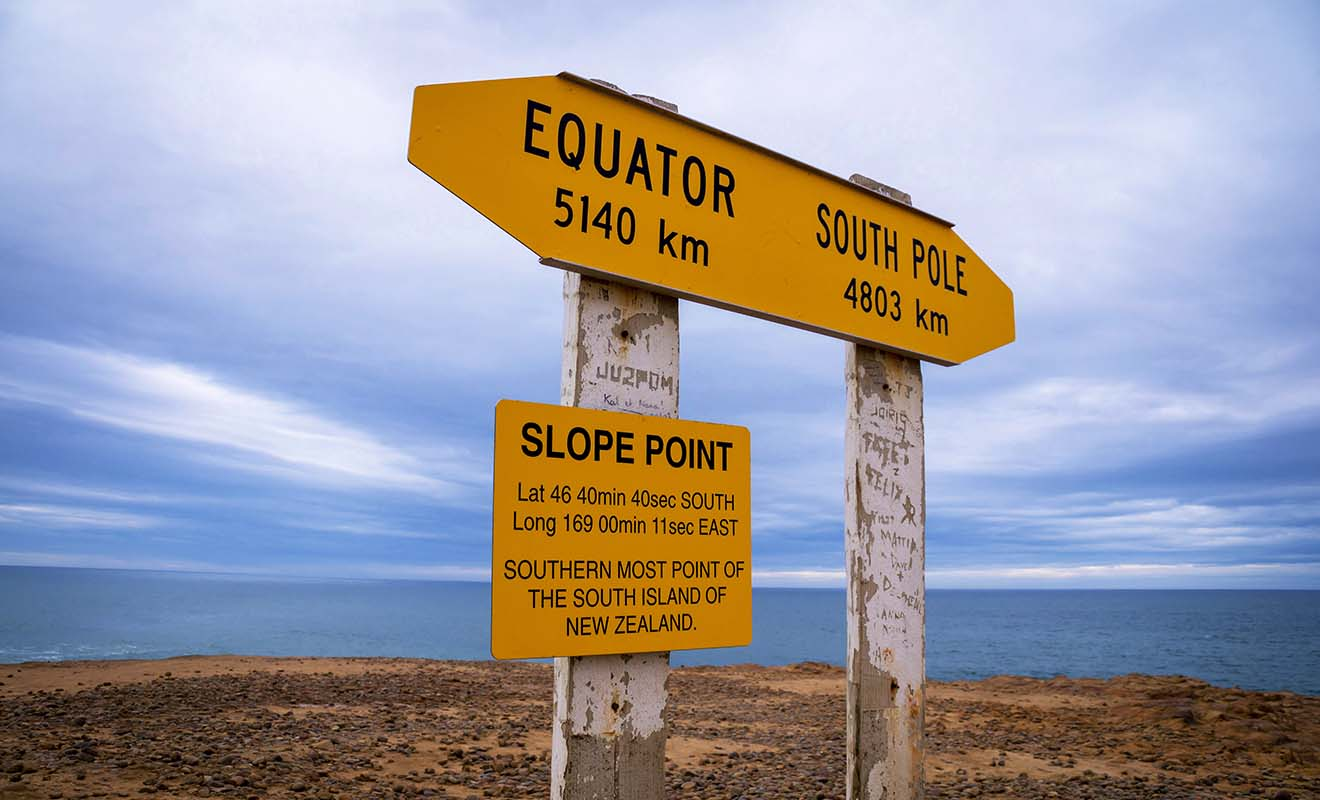 Le Pôle Sud se trouve à 4803 km de la Nouvelle-Zélande.