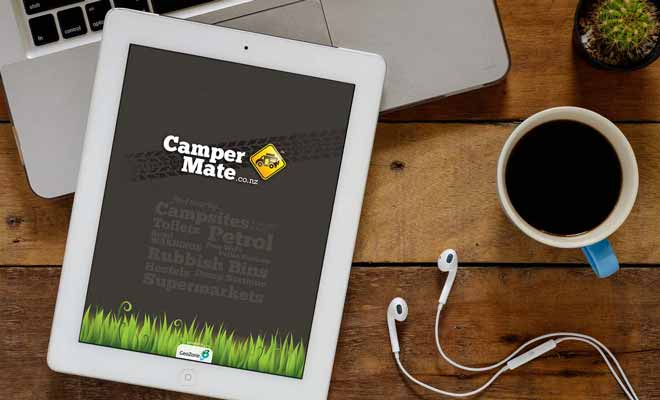 L'écran d'un téléphone portable est un peu limité et il vaut mieux utiliser l'application de Campermate sur une tablette.
