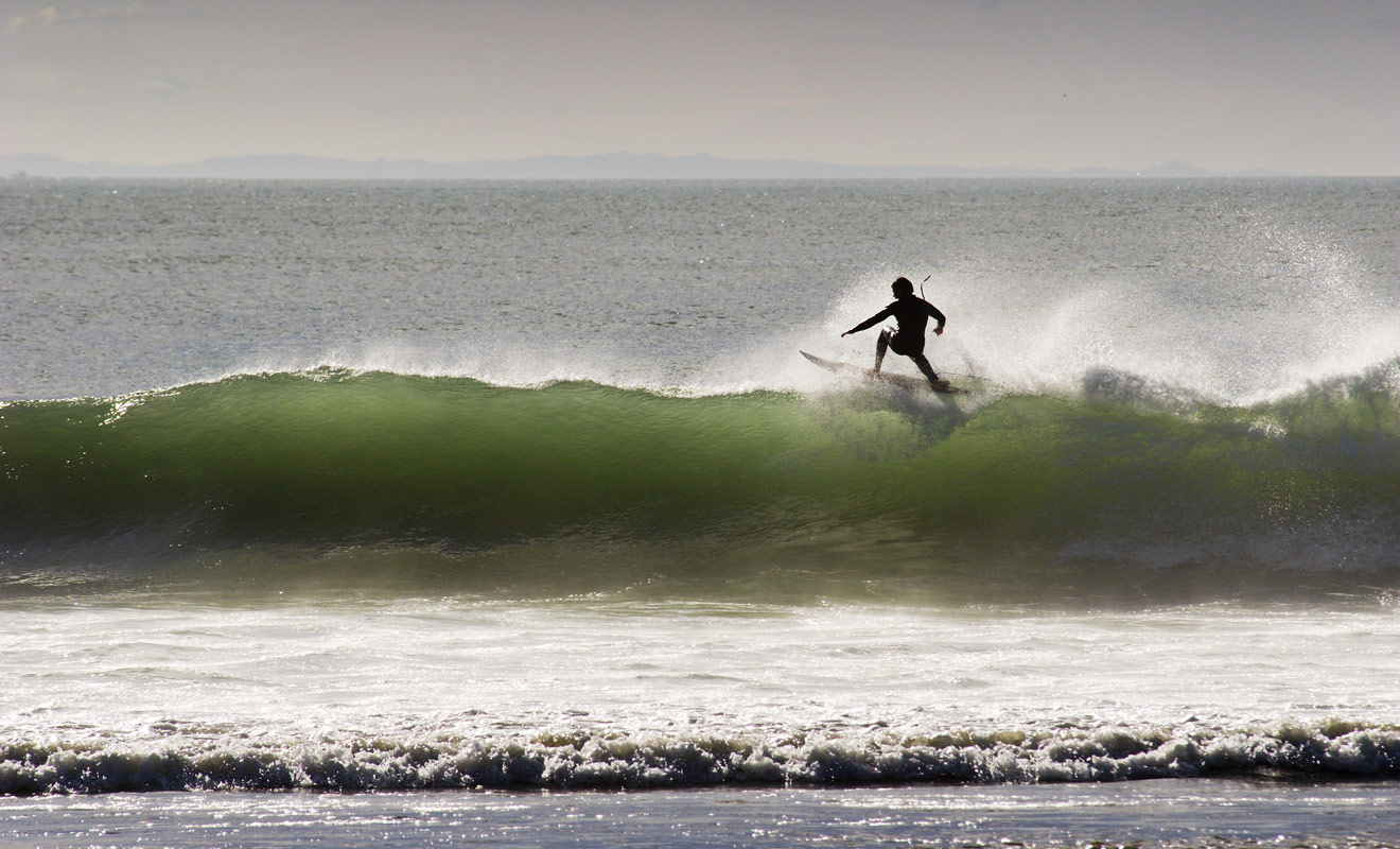 Toutes les conditions sont réunies, avec des plages qui s'étendent à perte de vue et qui ne sont pas surpeuplées comme en Australie.