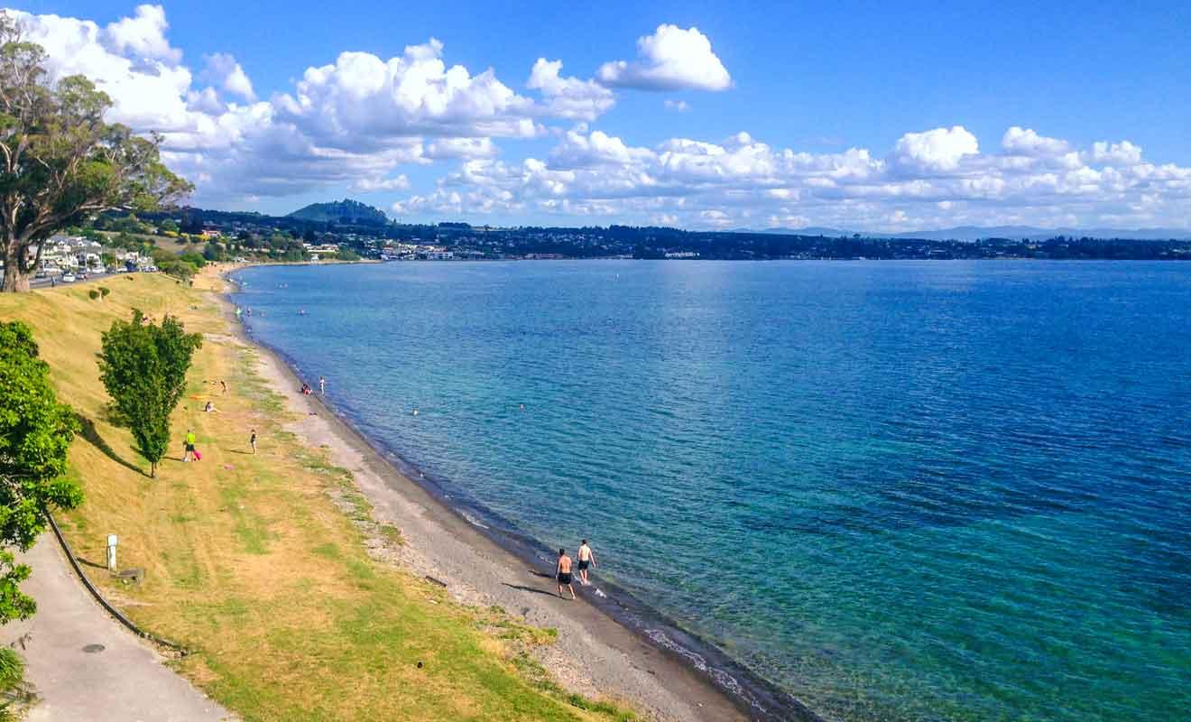 Il existe six plages différentes dans les environs de Taupō.