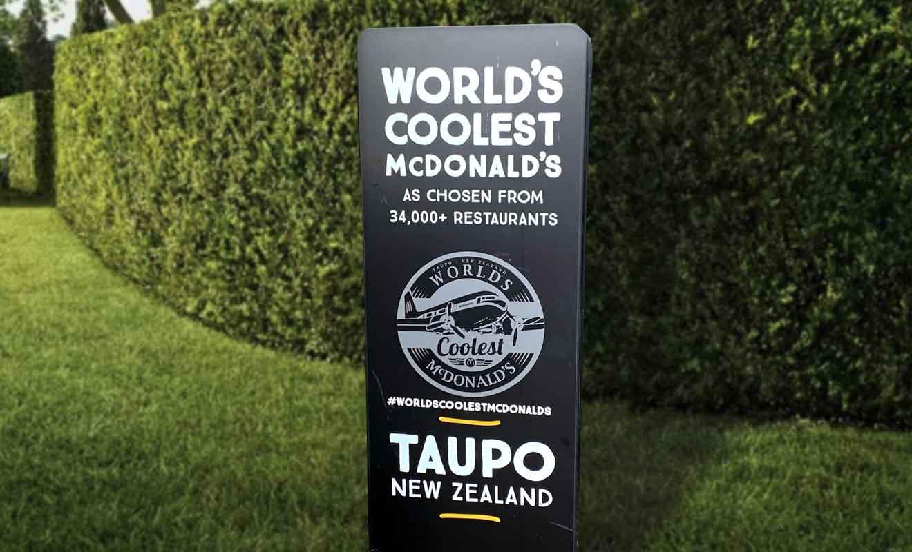 Le Mac Donald's de Taupo a été choisi parmi 34.000 restaurants.