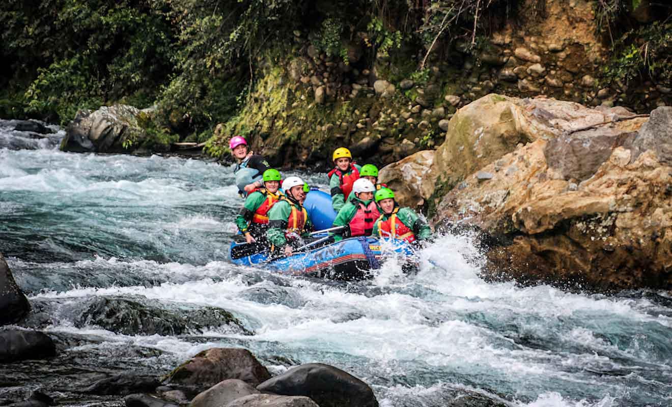 La Tongariro River offre des sensations fortes aux passionés de rafting.