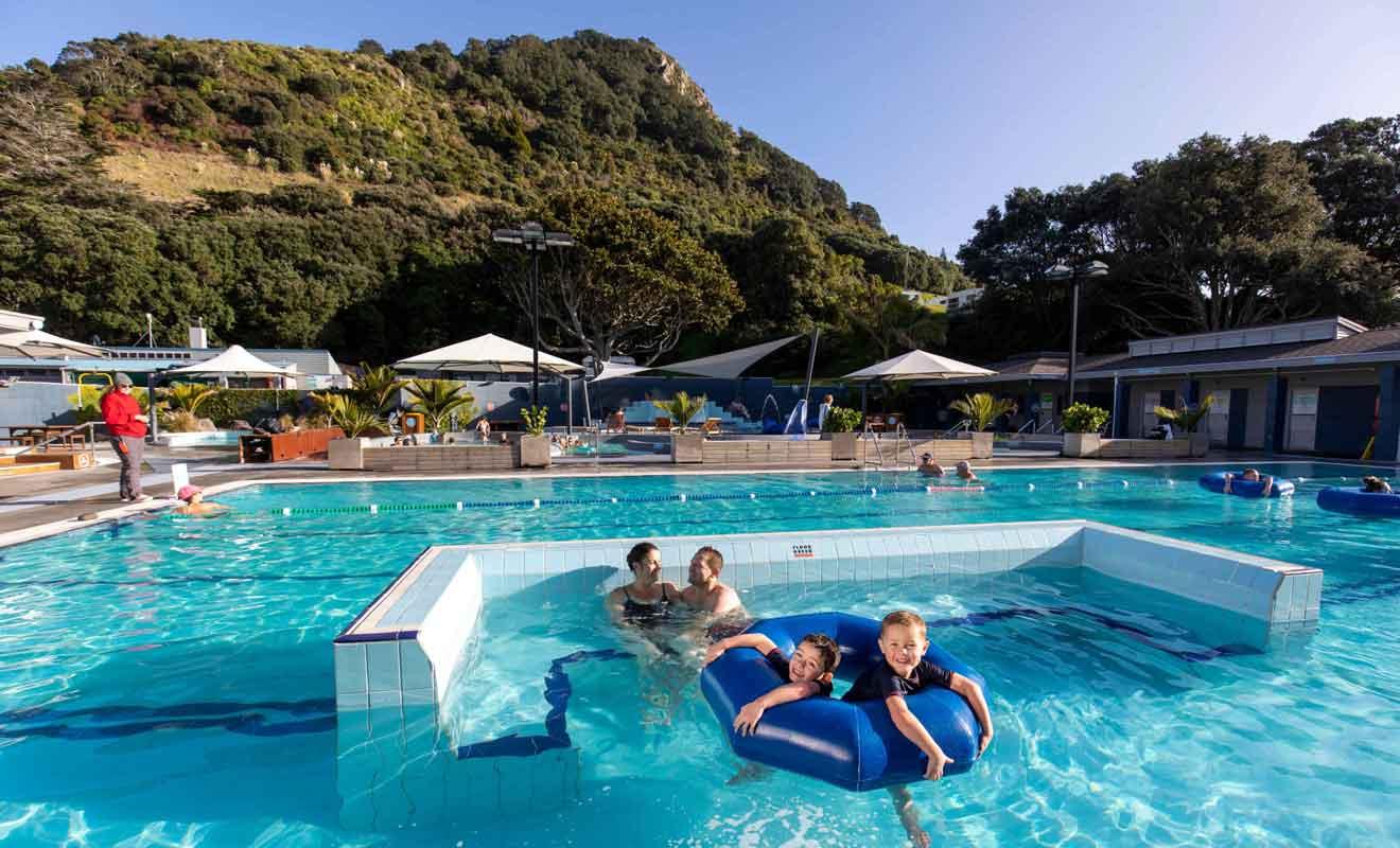 Les Mt Hot Pools sont idéales pour se détendre après une journée passée à visiter la ville.