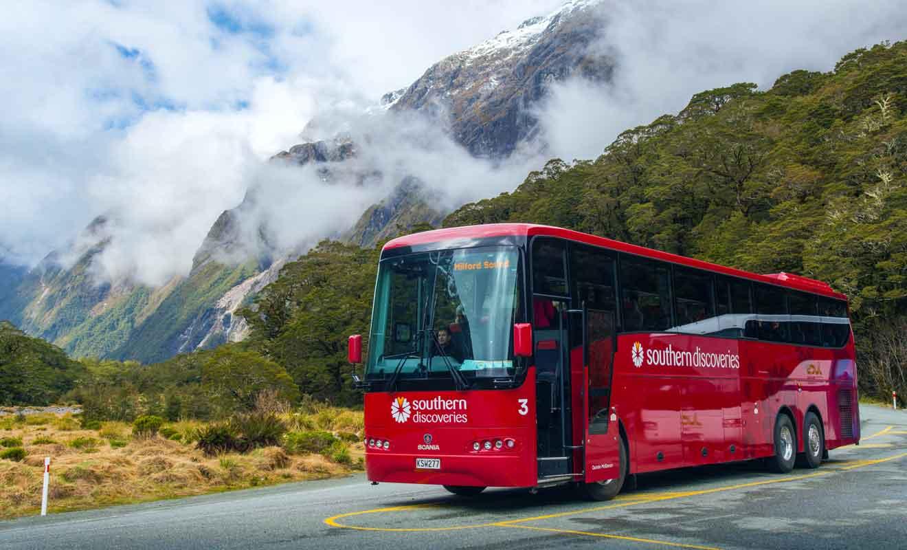 Les trajets en autocar ne permettent pas de visiter la région à son propre rythme.