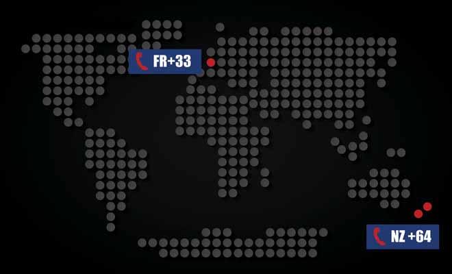 Pour joindre le pays des kiwis, vous devrez ajouter l'indicatif64 et enlever le 0 qui précède le numéro du destinataire.