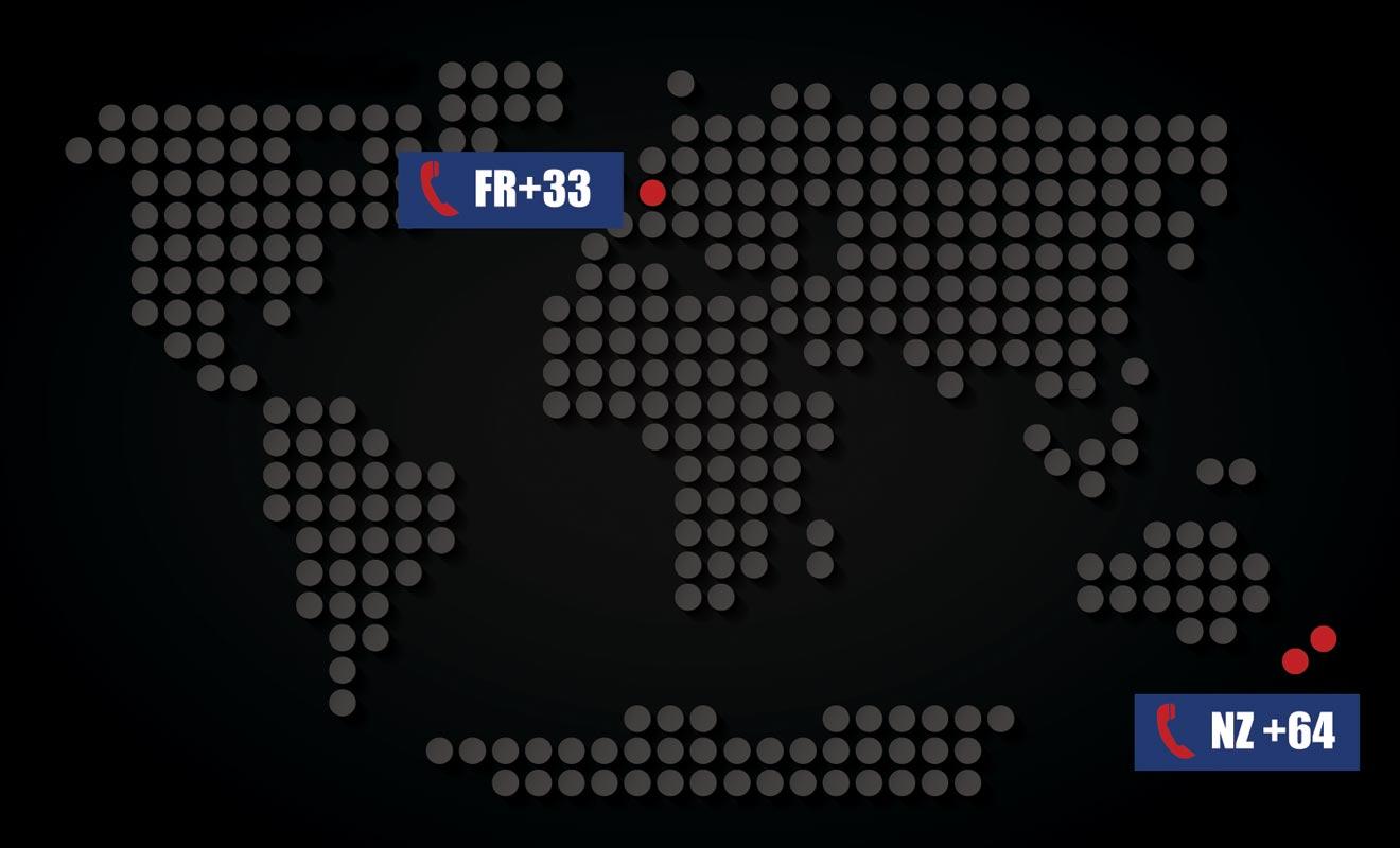Pour joindre le pays des kiwis, vous devrez ajouter l'indicatif 64 et enlever le 0 qui précède le numéro du destinataire.