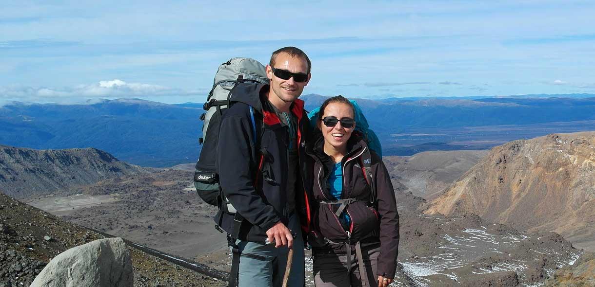 Marine et Julien, deux Français en voyage en Nouvelle-Zélande.