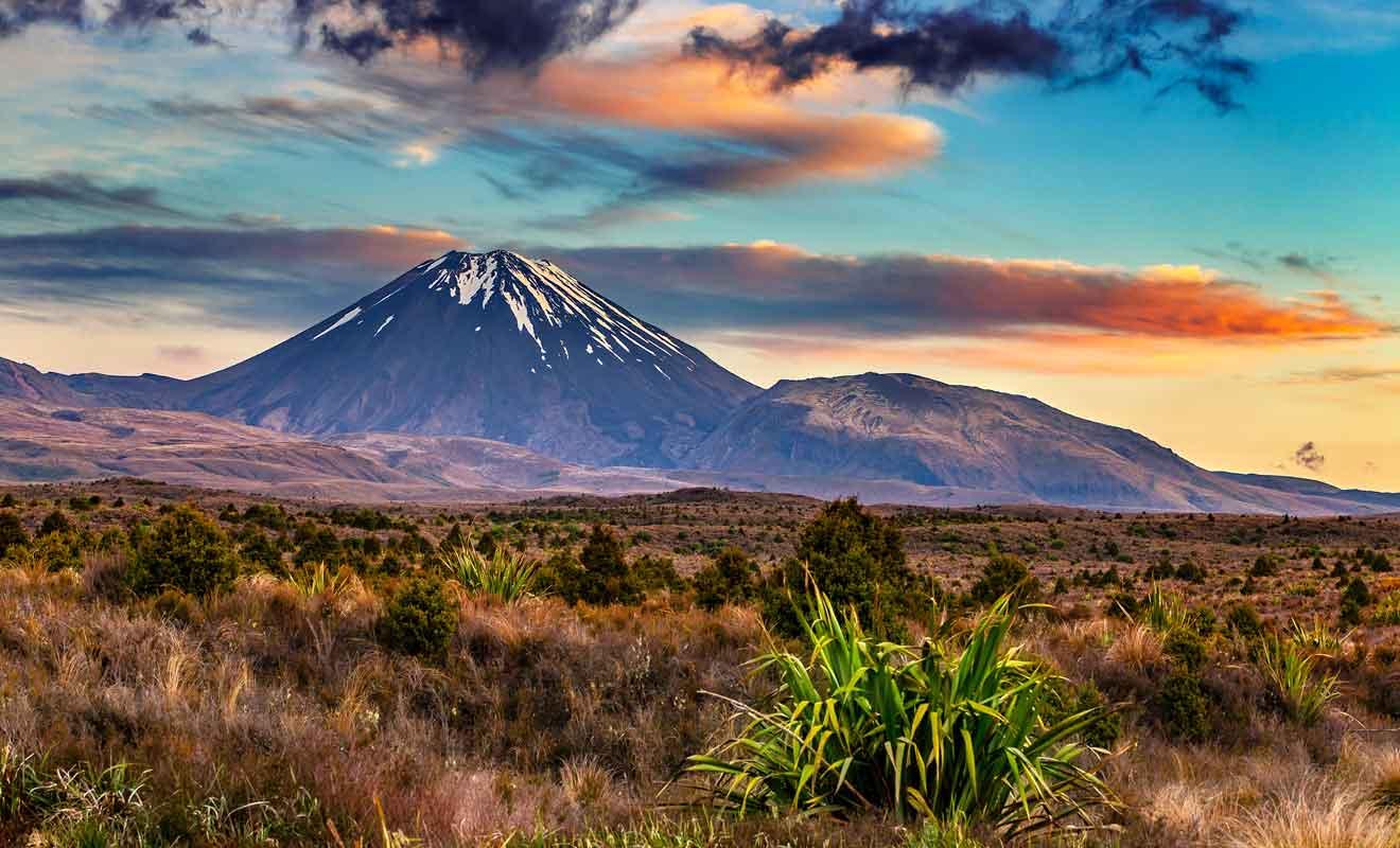 La montagne du destin du livre est en réalité un volcan de Nouvelle-Zélande.