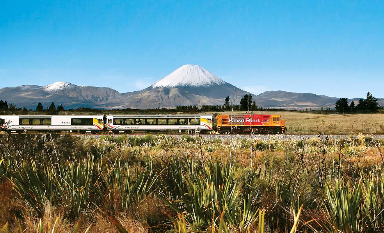 Certains paysages que l'on peut apercevoir au cinéma dans le Seigneur des anneaux sont visibles lorsque l'on voyage en train en Nouvelle-Zélande.
