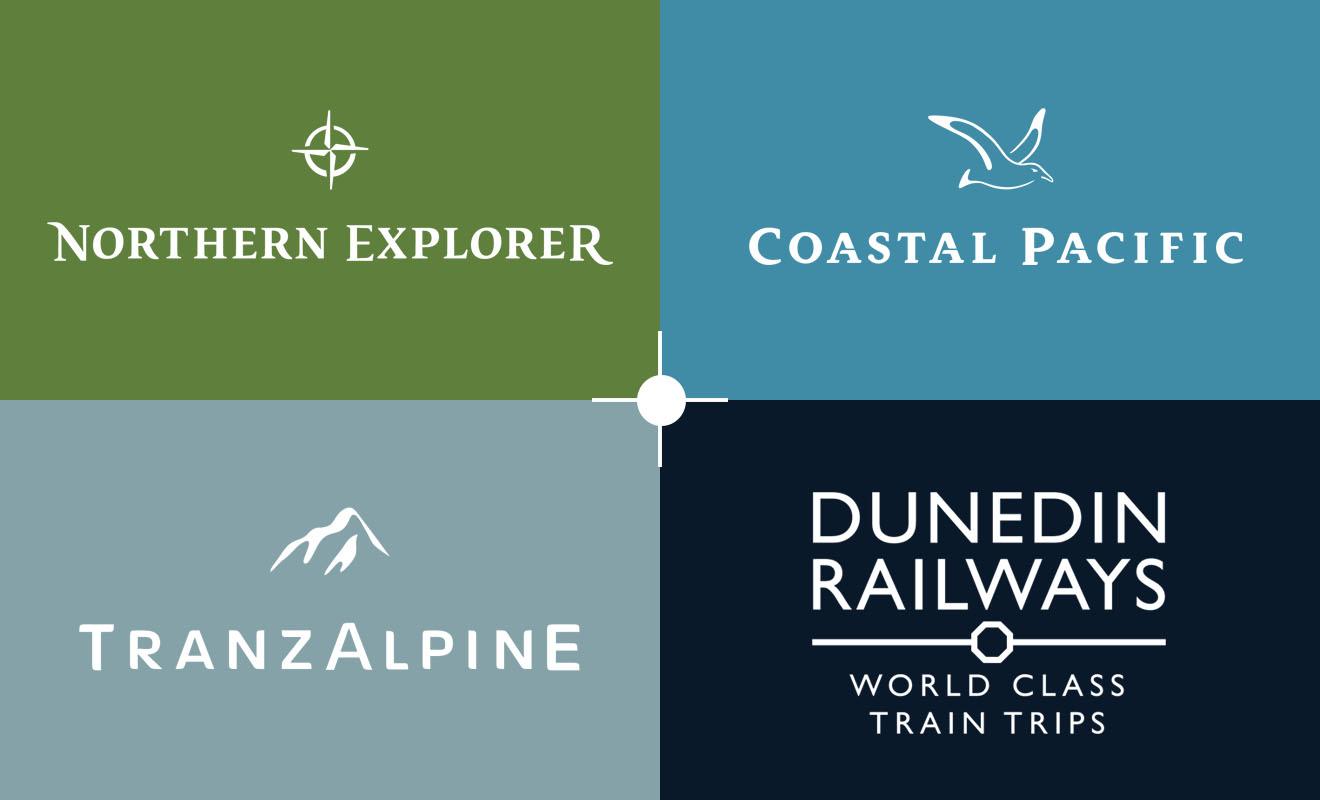 KiwiRails et Dunedin Railways sont les deux principales compagnie de train du pays qui opèrent sur l'île du Nord et l'île du Sud.
