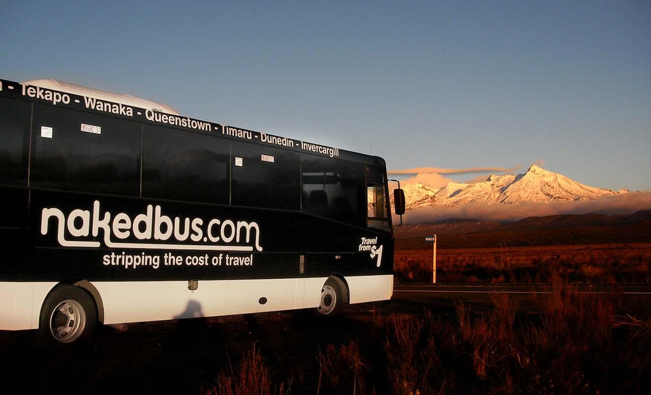 NakedBus dessert aussi des lieux emblématiques de Nouvelle-Zélande.