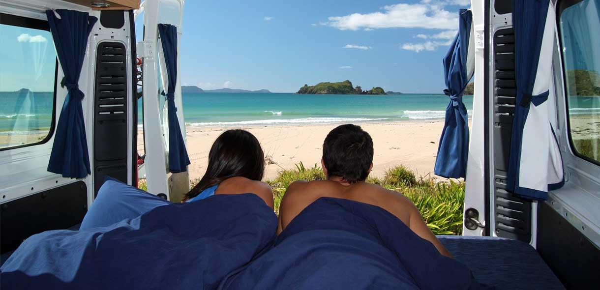 Réservez votre camping-car ou mini-van sans agence de voyages pour la Nouvelle-Zélande.