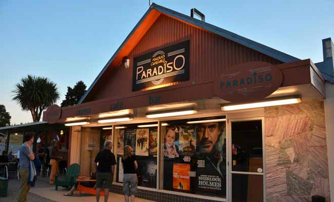 The Paradiso cinema allows you to watch a good movie sitting on a sofa or even in an old car. And you can also have pizzas during the movie!