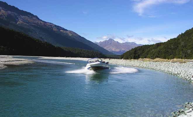 Les sorties en jetboat de Wanaka River Journey permettent également d'admirer quelques paysages qui ont servi de lieu de tournage pour le Seigneur des anneaux au cinéma.