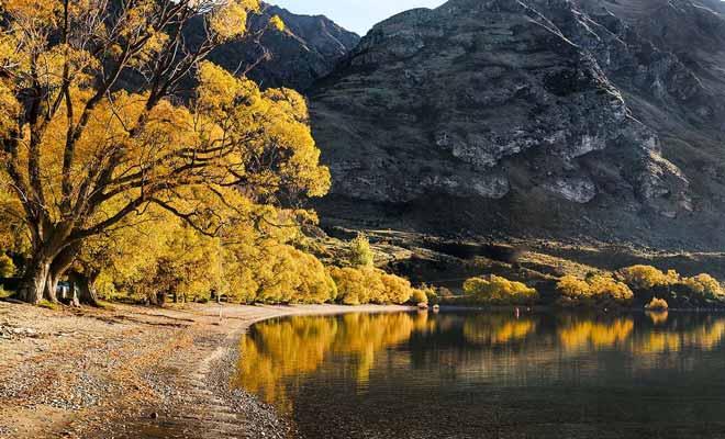 Le mois de mars coïncide avec le début de l'automne, et si le pays se vide de ses touristes, il prend des teintes magnifiques dans le sud, notamment vers Queenstown, Arrowtown ou Wanaka.